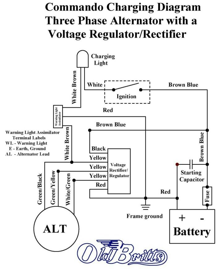 old britts, simplified wiring diagrams Trolling Motor Wiring Diagram upgraded 2 phase