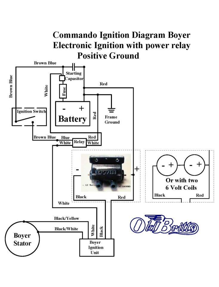 old britts simplified wiring diagrams boyer dyna coil power relay
